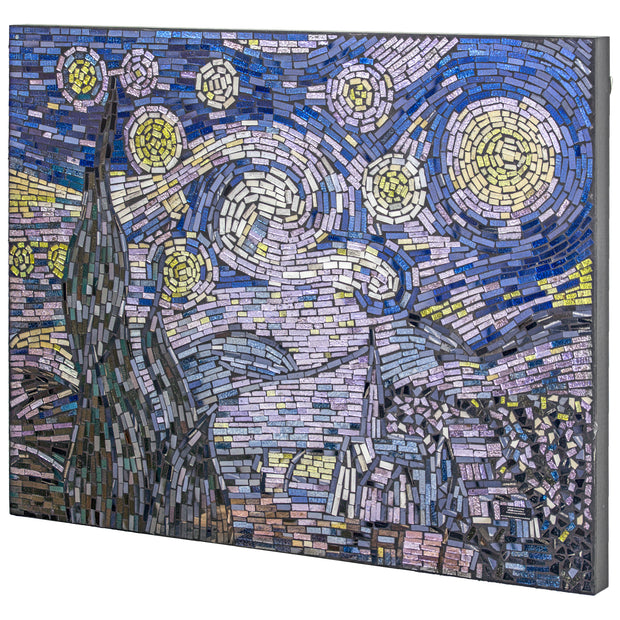 Vincent Van Gogh Starry Night Crushed Glass Mosaic Wall Art Decor