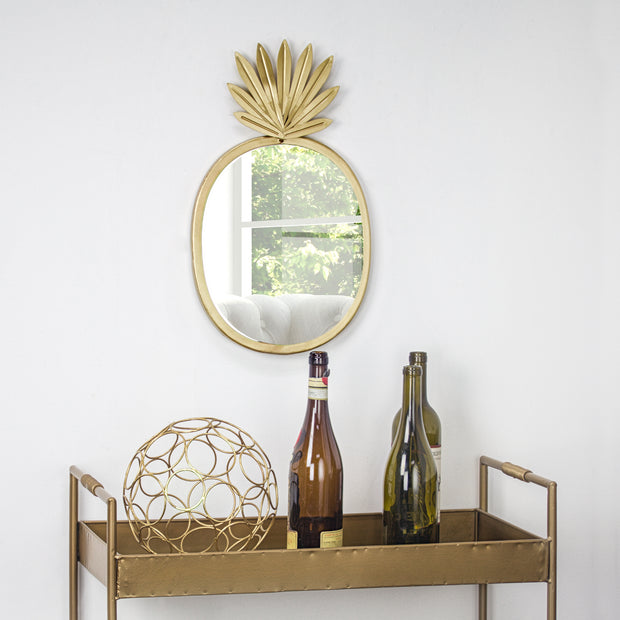 Metal Pineapple Accent Mirror