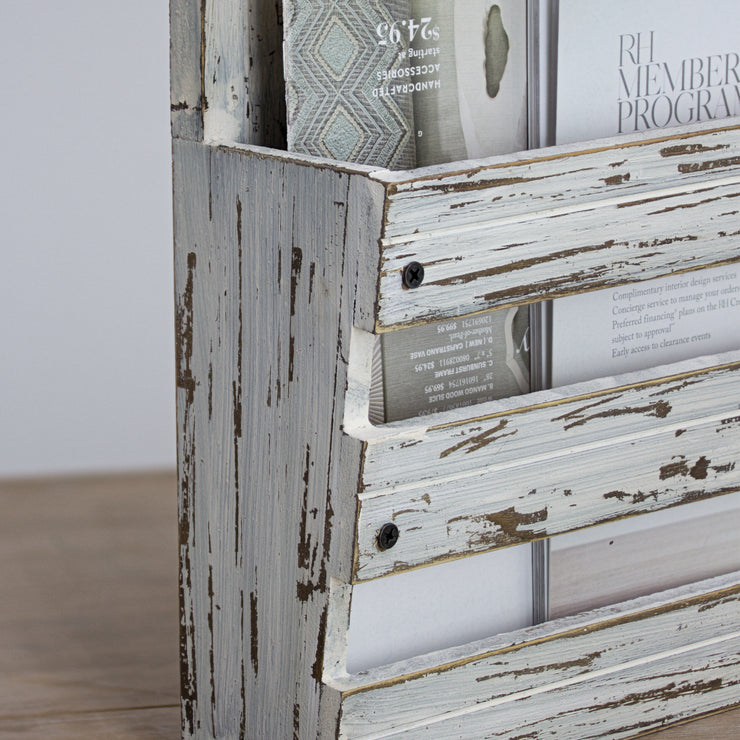 Rustic Wood Wall Organizer
