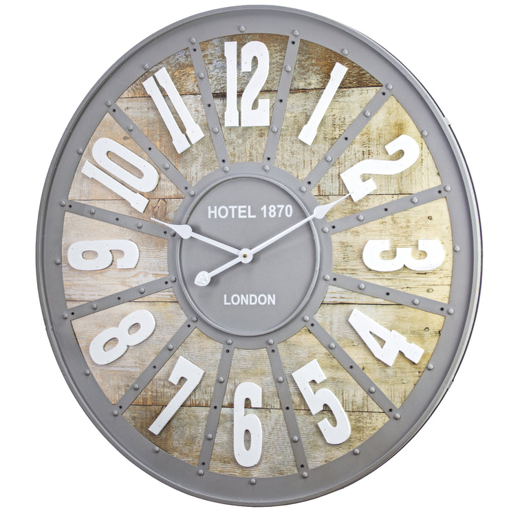 Hotel 1870 London Oversized Vintage Wall Clock 32""