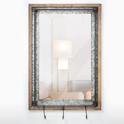 Decorative Wall Vanity Mirror with 3 Storage Hooks
