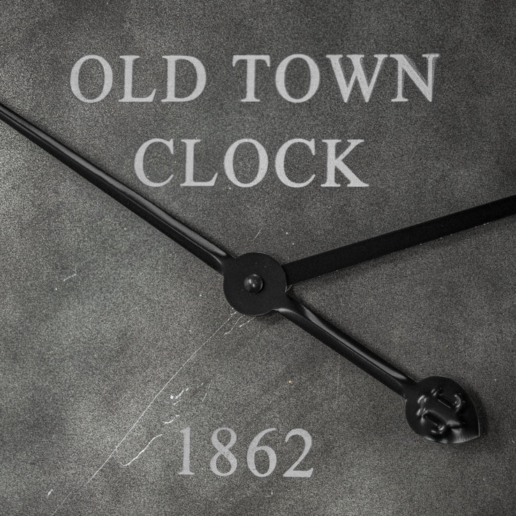 Old Town Clock 1862 Oversized Hanging Wall Clock 23""