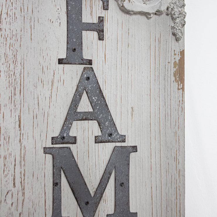 Vintage Wood Family Sign