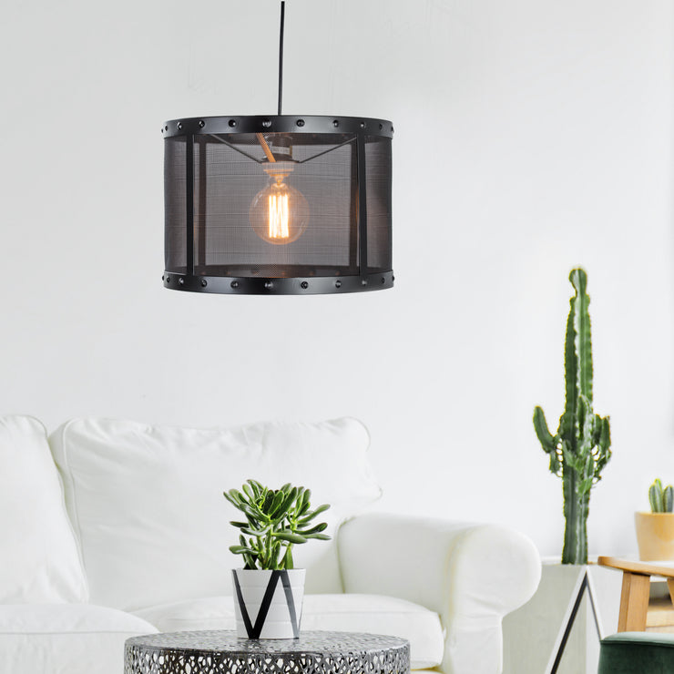 Industrial Black Metal Pendant Lighting