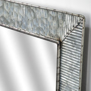 "Galvanized Metal 22"" Wall Vanity Mirror"