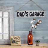 Dad's Garage Metal Hanging Sign
