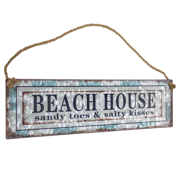 Beach House Metal Hanging Sign