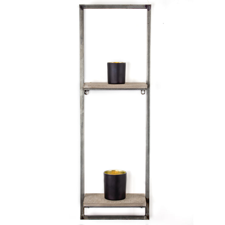 Rustic Hanging Two Shelves Rack