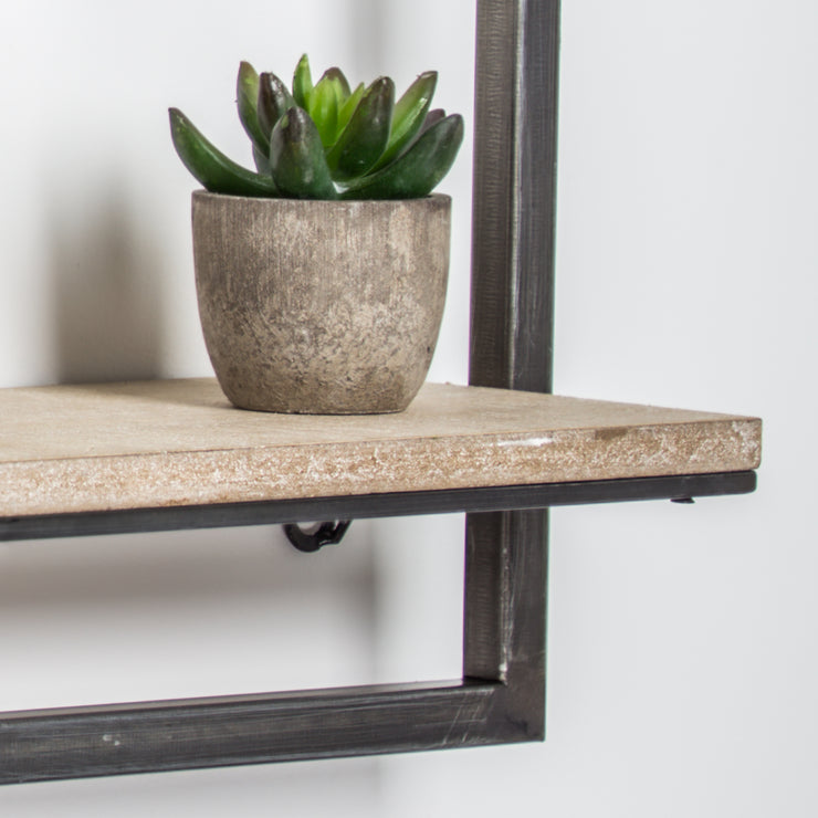 Rustic Hanging One Shelf Rack