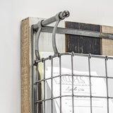 3 Pocket Rustic Metal Wired Mail & Wall Organizer