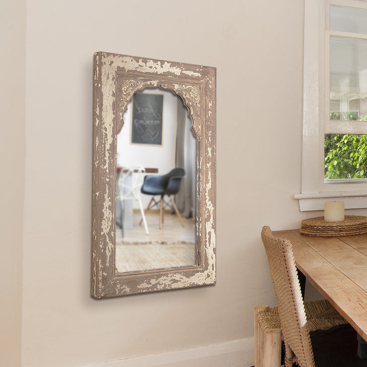 "Rustic 32""H Farmhouse Mirror"