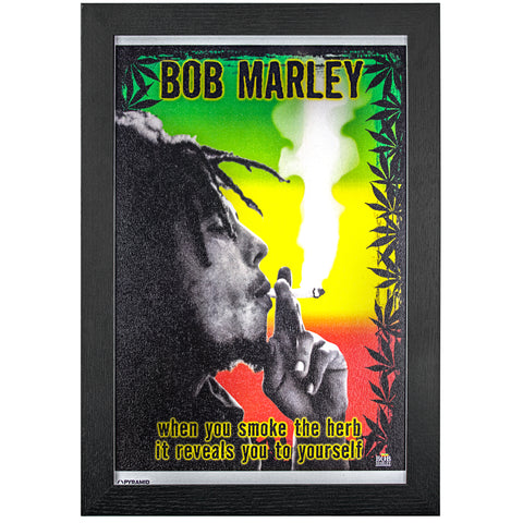 Bob Marley Smoke the Herb Wall Art