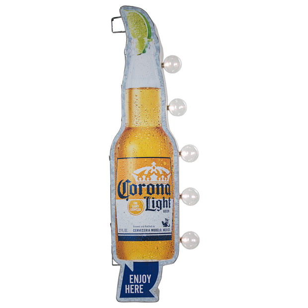 Officially Licensed Corona Light Vintage LED Marquee Sign