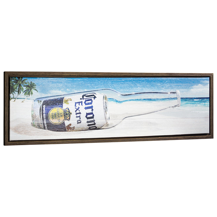 "Corona Extra Framed Canvas Wall Art Decor (12"" X 37"")"