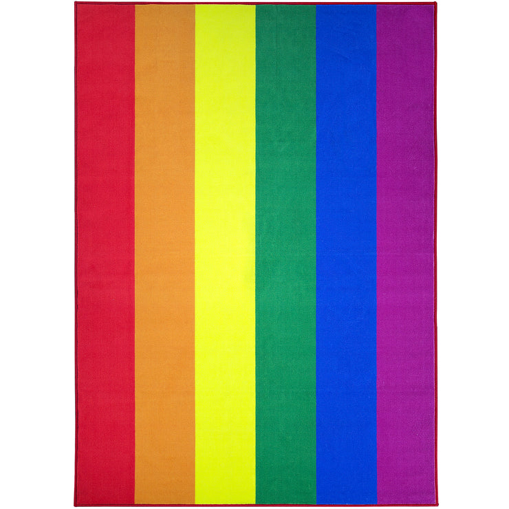 Pride Rainbow Flag Area Rug (5'x7')