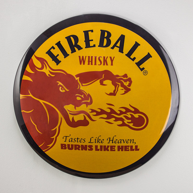 "Fireball Whiskey Dome Metal Sign (15"")"