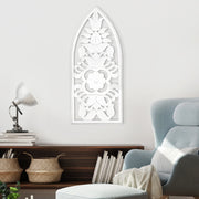 "Hand-Carved Decorative Wood Wall Panel (36"" x 16"")"