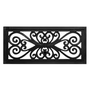 Hand-Carved Floral Wood Panel and Wall Decor - Black