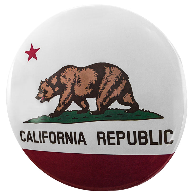 "California State Flag Dome Metal Sign (15"")"