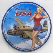 "Made in the USA Dome Metal Sign (15"")"