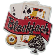 Blackjack 21 Embossed Metal Sign