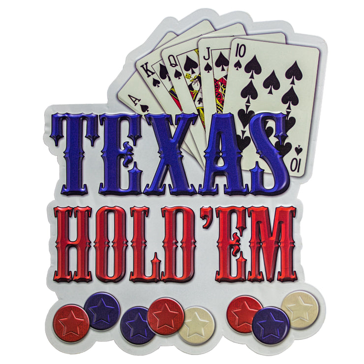 Texas Hold'em Embossed Metal Sign