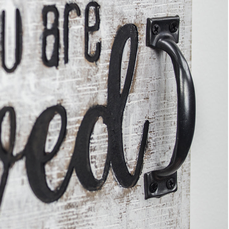 You Are Loved Wall Mounted Chalkboard Message Board