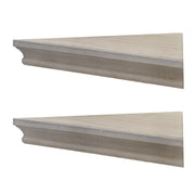 Beveled Wood Floating Corner Shelves (Set of 2) - Grey