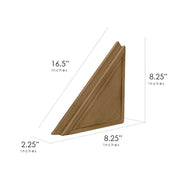 Beveled Wood Floating Corner Shelves (Set of 2) - Walnut Brown