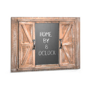 Barn Door Picture Frame & Chalkboard