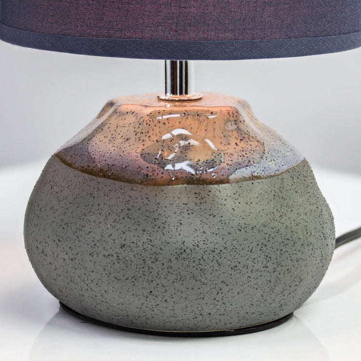 "Ceramic Table Lamp with Canvas Shade - Blue (10.5"")"
