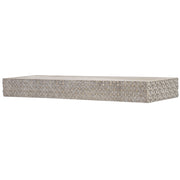 "Rustic Wood Floating Wall Shelf - Greywashed (36"" x 9"")"