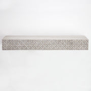 "Rustic Wood Floating Wall Shelf - Greywashed (24"" x 9"")"