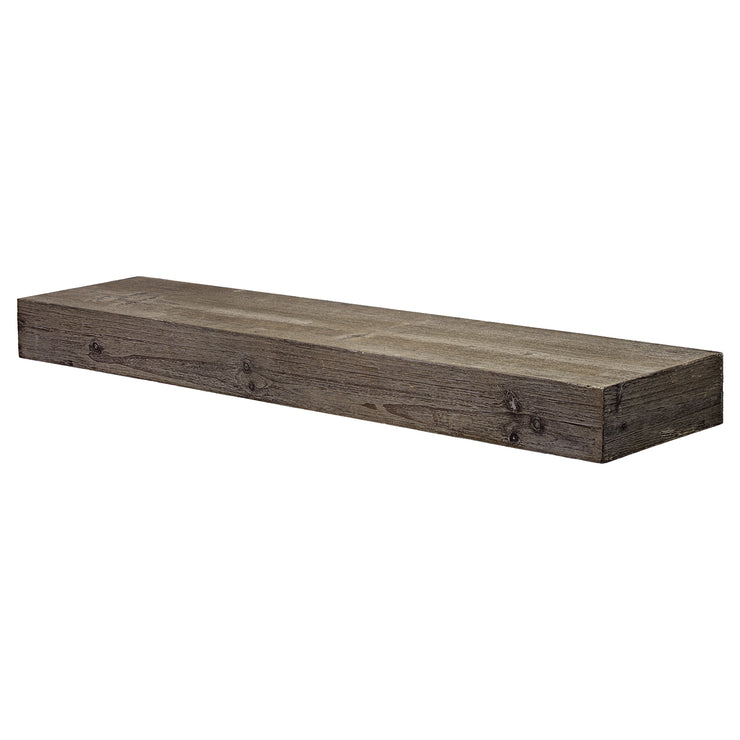 Rustic Wood Floating Wall Shelf - Large/Grey