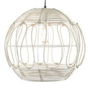 Wicker Globe Style Hanging Pendant Lamp