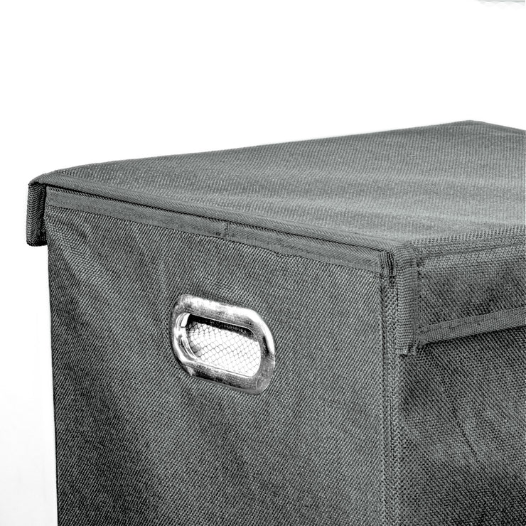 "Collapsible Laundry Hamper with Removable Liners & Magnetic Lid – Grey (25.5"" x 15"")"