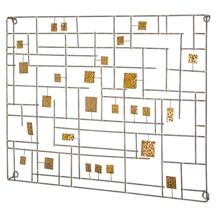"Abstract Metal Wall Decor by B.J. Keith (28"" x 21"")"