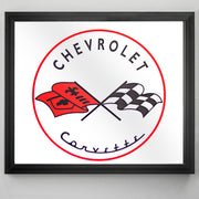 "Chevrolet Corvette Printed Accent Mirror (13.5"" x 15.5"")"