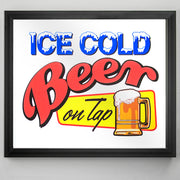 "Ice Cold Beer On Tap Printed Accent Mirror (13.5"" x 15.5"")"