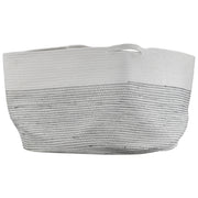 Woven Cotton Basket with Handles