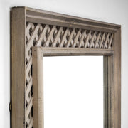 "32"" x 44"" Gray Lattice Wall Mirror"