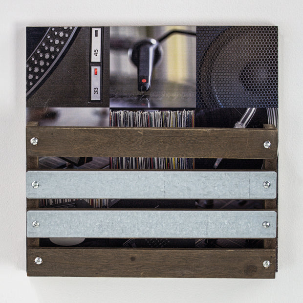 Galvanized Metal & Wood Envelope Farmhouse Wall Organizer