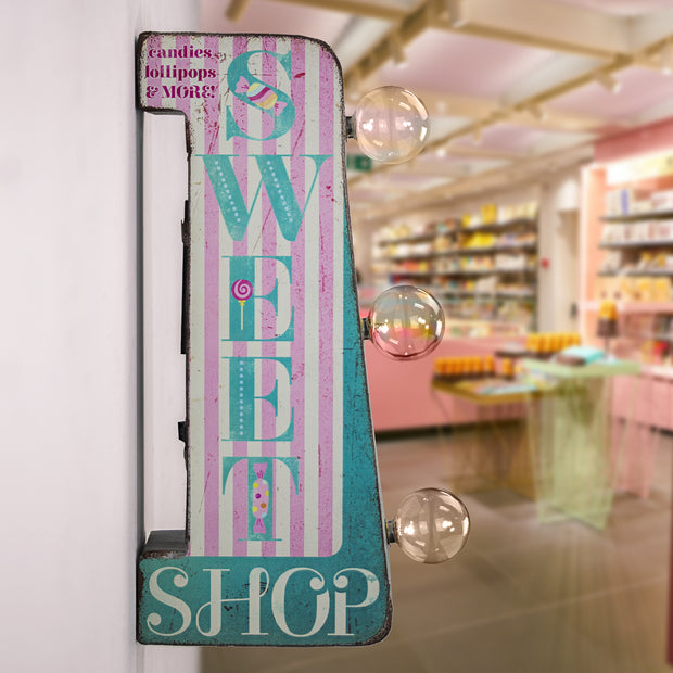 "Sweet Shop Vintage Mini LED Marquee Sign (12"")"