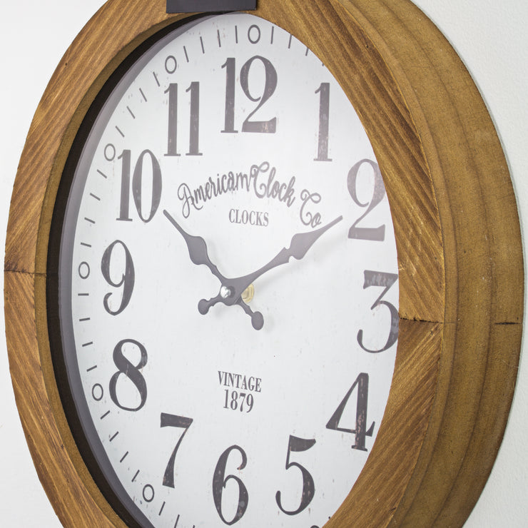 American Clock Co. Pocket Watch Wall Clock 20""