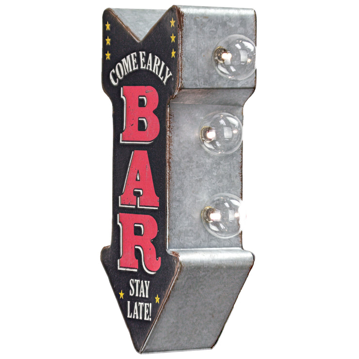 "Vintage Bar Mini LED Marquee Arrow Sign (12"" x 5.25"")"