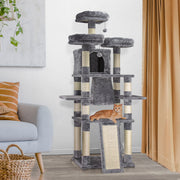 "Multi-level Cat Activity Tree Cat Condo – Grey (67"" x 36"")"