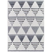 Geometric Moroccan Pile Shag Accent Rug 5' x 7'