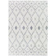 Boho Moroccan Pile Shag Accent Rug 5' x 7' - White