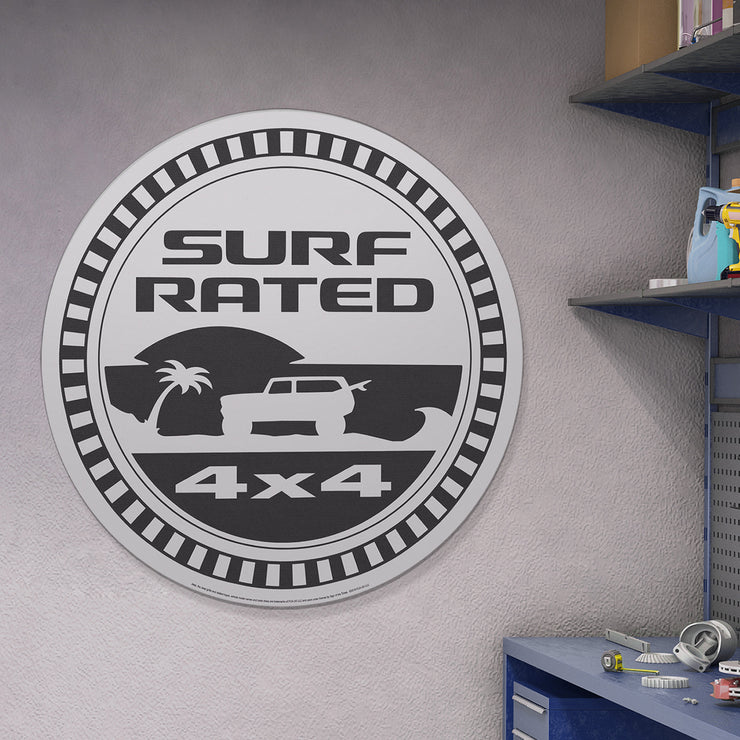 "Jeep Surf Rated 4x4 Oversized Metal Sign (40"")"