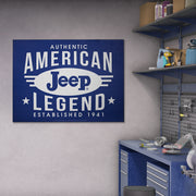 "Jeep American Legend Oversized Metal Sign (31"" x 41"")"